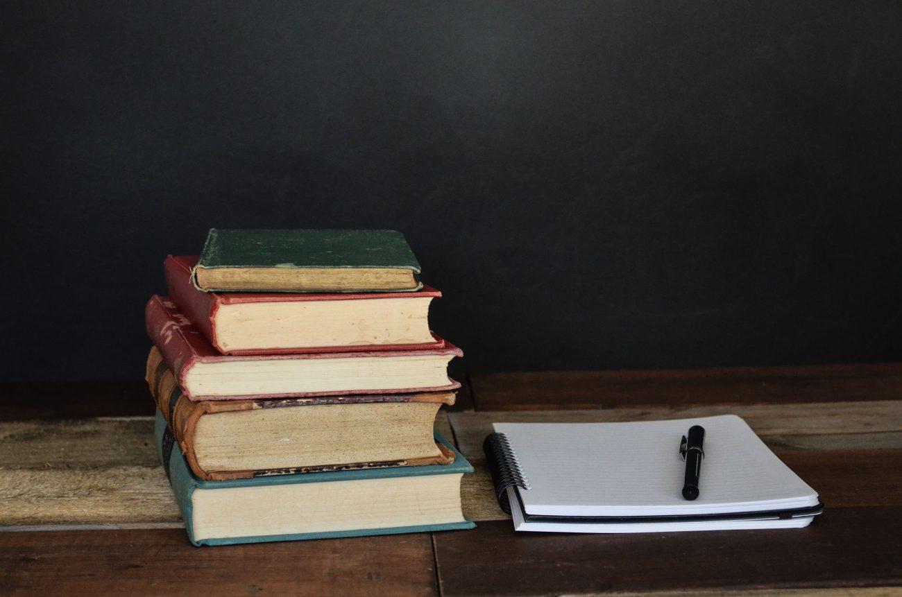 books on a desk