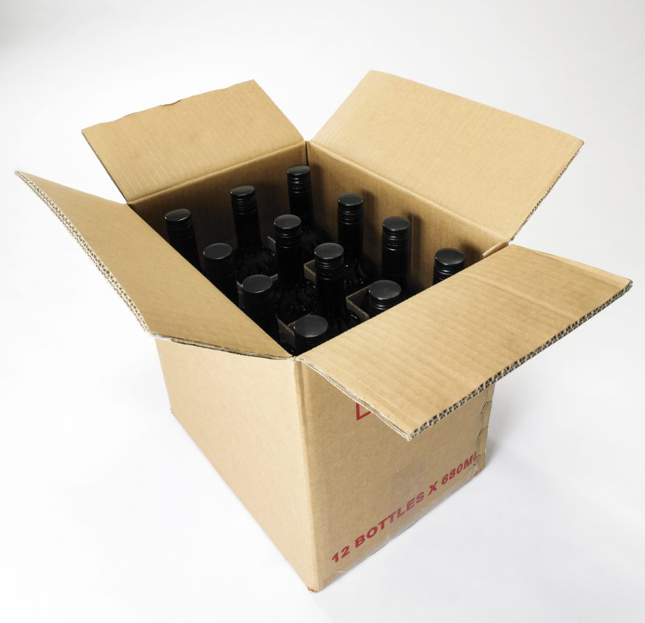 open case of wine