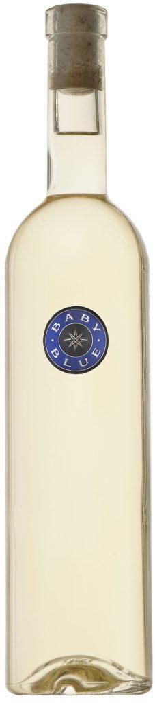 """bottle of Blue Rock """"Baby Blue Blanc"""""""