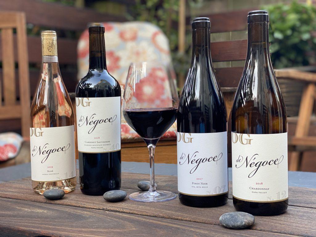 Bottles of de Negoce wine