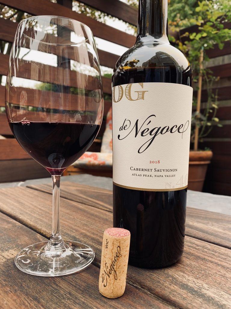 bottle of de Negoce wine.