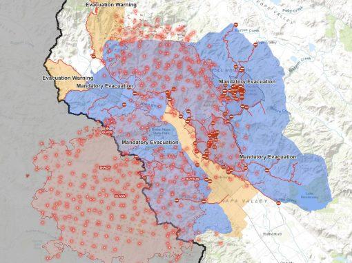 map of evacuation warnings
