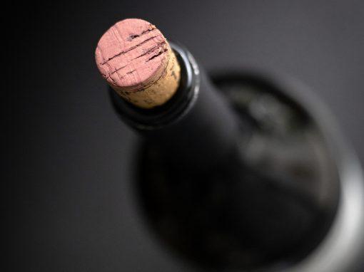 opened bottle of wine
