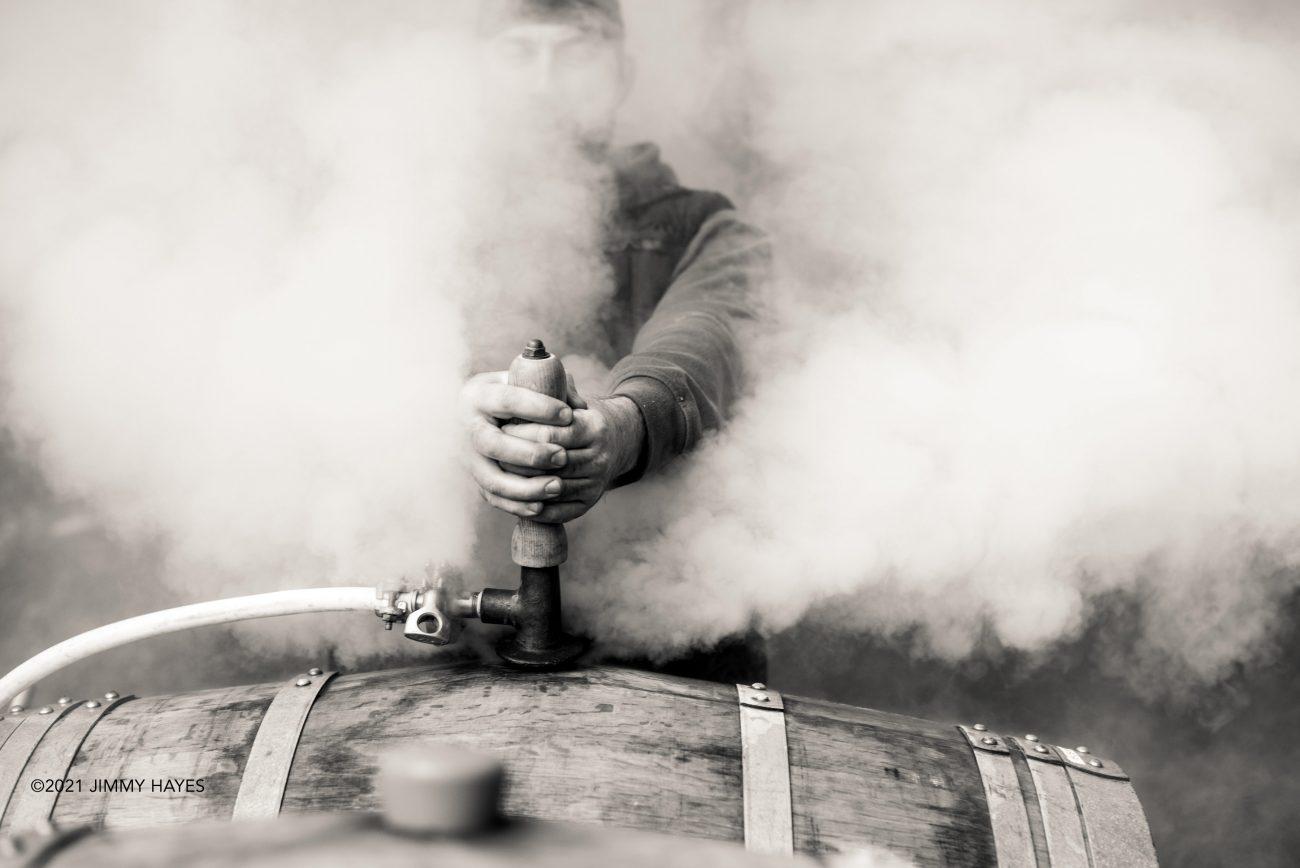 steaming barrels