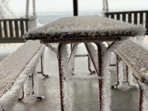 ice on a table